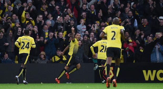 Troy Denney netted from the penalty spot for Watford