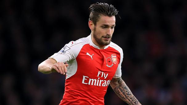 Mathieu Debuchy is struggling to break back into the current Arsenal side