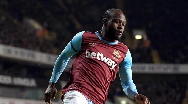 West Ham winger Victor Moses has been ruled out until the new year
