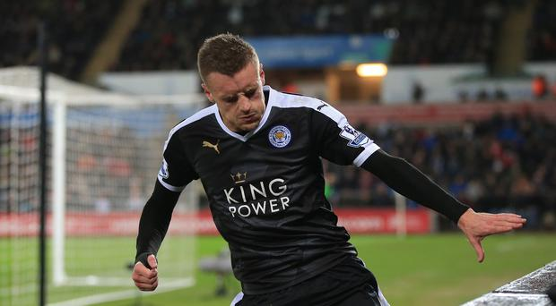 Jamie Vardy and Leicester are not in action until Monday