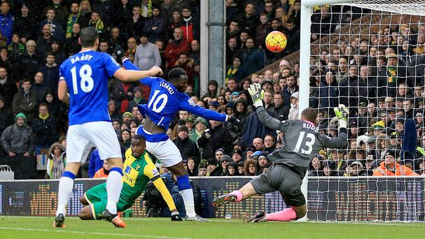 Romelu Lukaku scored for a seventh straight game in Everton's 1-1 draw with Norwich