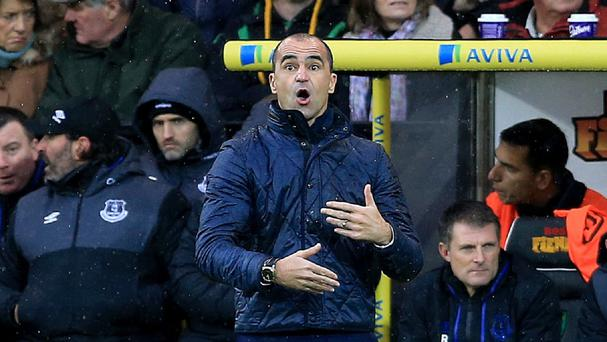 Everton manager Roberto Martinez, pictured, felt Romelu Lukaku could have scored more than one goal against Norwich