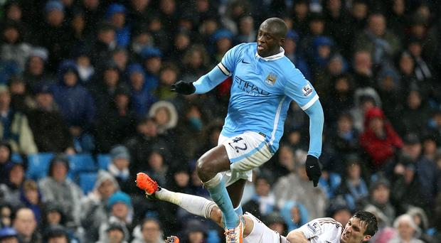 Manager Manuel Pellegrini felt Yaya Toure, pictured, was Manchester City's outstanding player