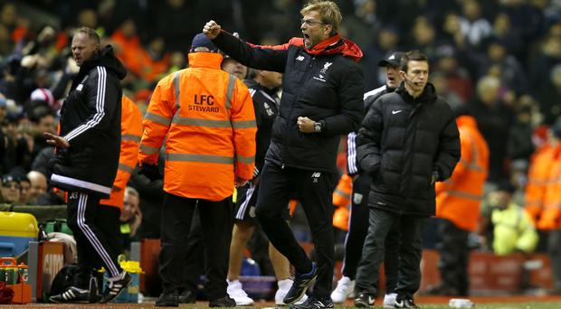 Liverpool manager Jurgen Klopp was happy to get the point against West Brom