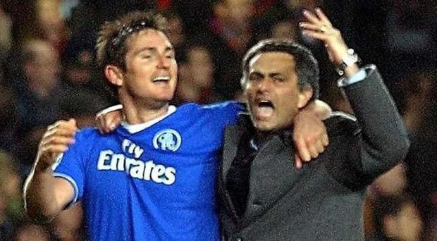 Frank Lampard, left, and Jose Mourinho developed a close bond during their days at Stamford Bridge