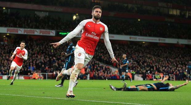Olivier Giroud scored Arsenal's second