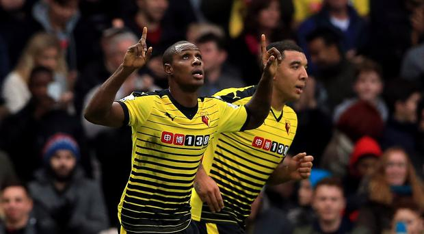 Watford are confident striker Odion Ighalo, pictured, will stay at Vicarage Road until at least the end of the season