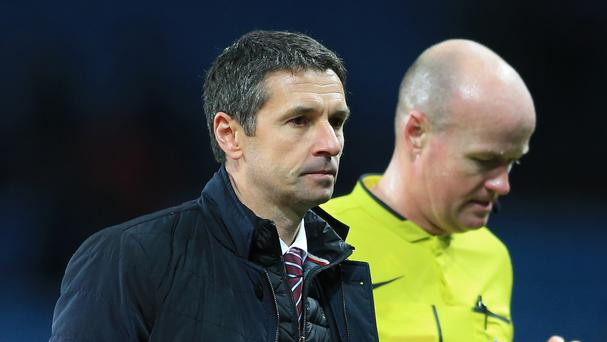 Aston Villa manager Remi Garde is still looking for his first win