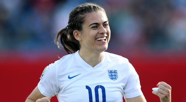 Karen Carney is celebrating a move to Chelsea Ladies