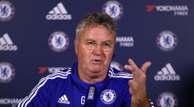 Chelsea's interim manager Guus Hiddink called on the players to show a great desire to play