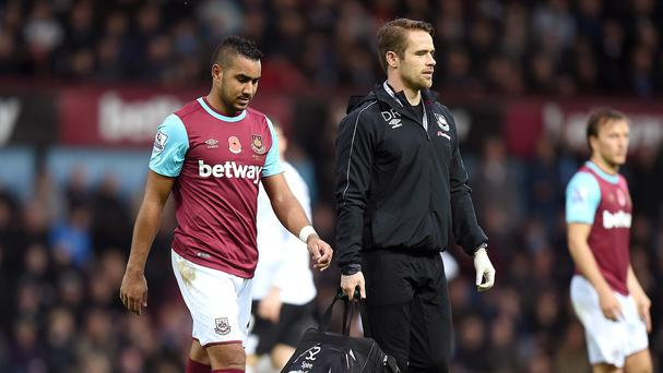 Dimitri Payet, left, has been sidelined since early November
