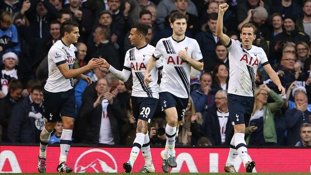 Harry Kane, right, netted Tottenham's opener