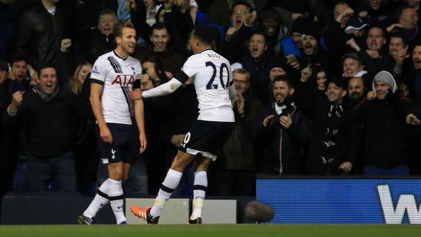 Harry Kane, left, and Dele Alli were instrumental in Tottenham's win