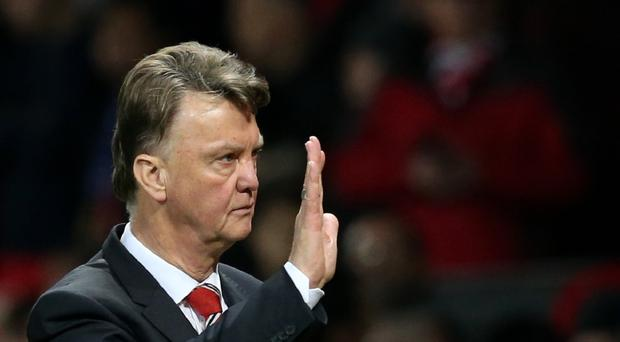 Louis van Gaal was in a good mood after Monday's game