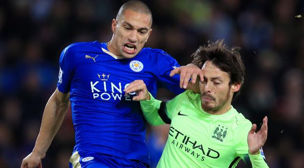 David Silva, right, tried his best to lead Manchester City to victory