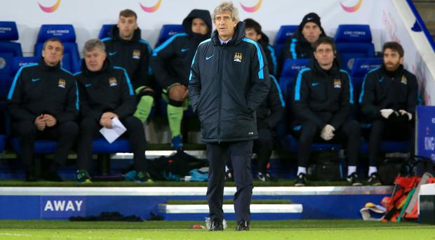 Manuel Pellegrini hailed Manchester City's defending at the King Power Stadium