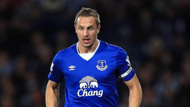Phil Jagielka will play in one of Everton's next three fixtures