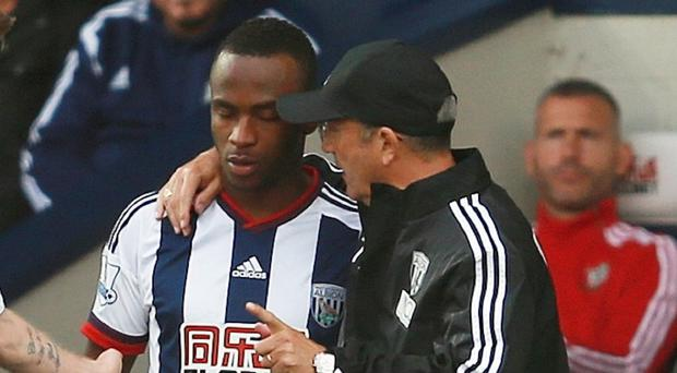 Tony Pulis, right, has been critical of Saido Berahino's behaviour