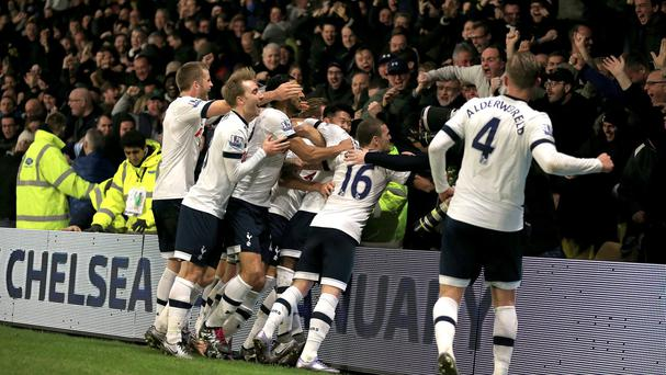 Tottenham sit four points off the top after Monday's 2-1 win at Watford