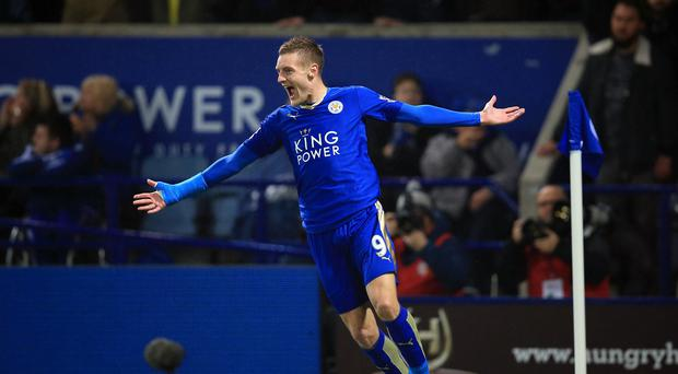 Leicester striker Jamie Vardy, pictured, has long been on the radar of Bournemouth manager Eddie Howe