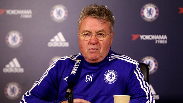 Chelsea Interim Manager Guus Hiddink Pictured Does Not Want The Burden Of Scoring To