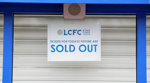 Yesterday's clash between Leicester and Bournemouth was a sell-out at the King Power Stadium but many believe live television is affecting attendances Photo: Michael Regan / Getty Images