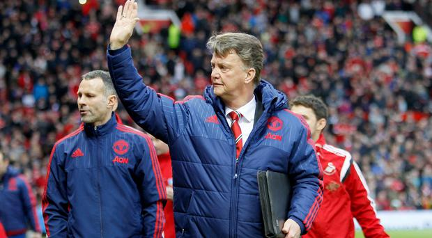 Louis van Gaal has been encouraged after taking four points from the last two games