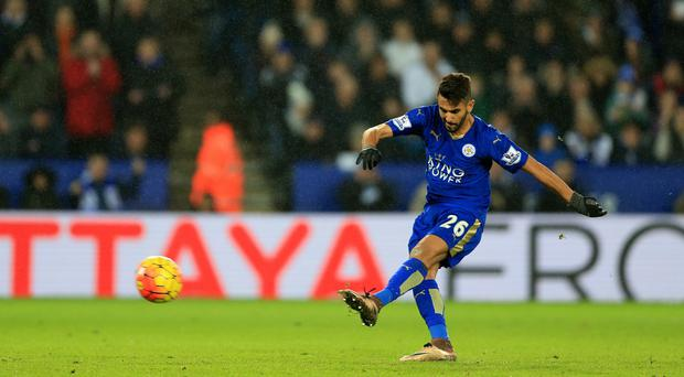 Riyad Mahrez, pictured, had his penalty saved by Bournemouth goalkeeper Artur Boruc on Saturday