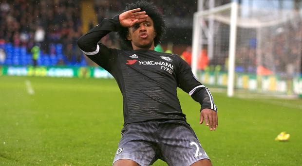 Willian scored and set up another as Chelsea beat Crystal Palace