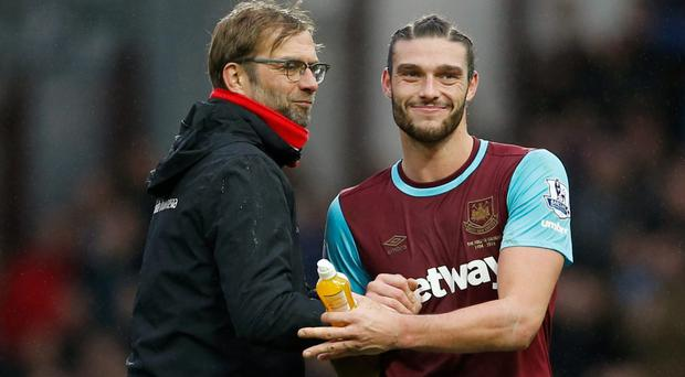 Andy Carroll has scored two goals in two games for West Ham. Photo: Reuters