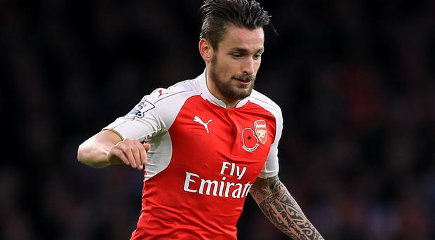Mathieu Debuchy has only made eight appearances for Arsenal this season