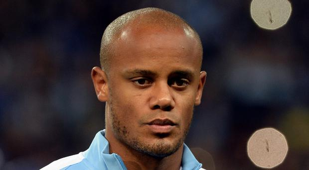 Manchester City's Vincent Kompany was on a plane which failed to take off