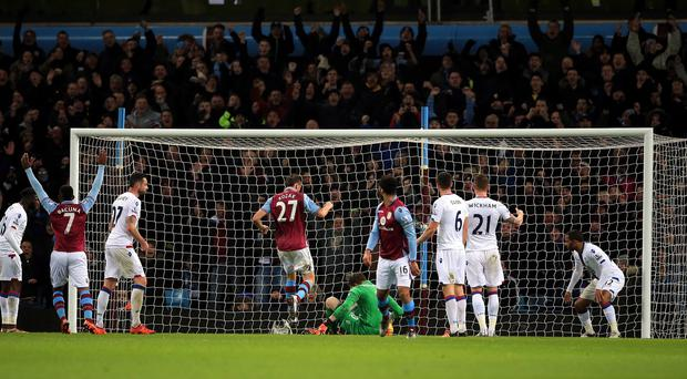A blunder from Crystal Palace goalkeeper Wayne Hennessey gifted Aston Villa a 1-0 win