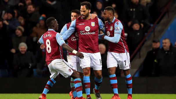 Joleon Lescott, centre, could be crucial to Villa's attempt to stay in the Premier League