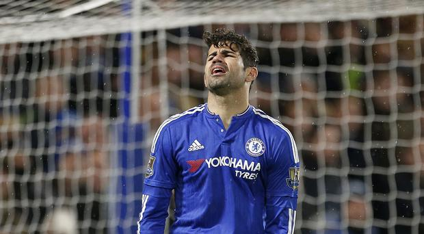 Diego Costa cut a frustrated figure in Chelsea's 2-2 draw with West Brom