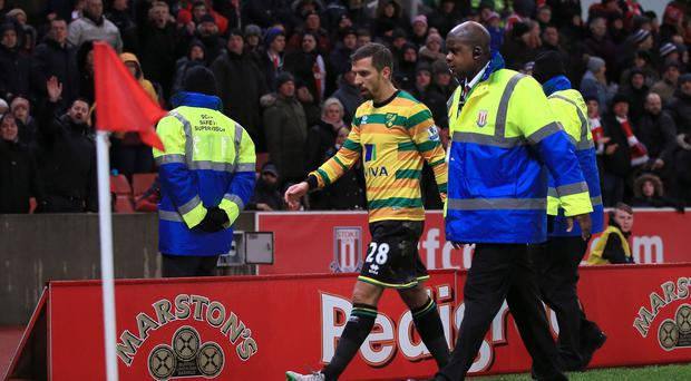 Gary O'Neil was shown a red card for Norwich