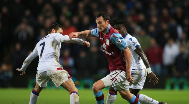 Aston Villa's Libor Kozak made his first start for over two years in Tuesday's win over Crystal Palace.