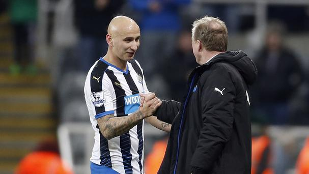Steve McLaren, right, was impressed with the impact of Jonjo Shelvey