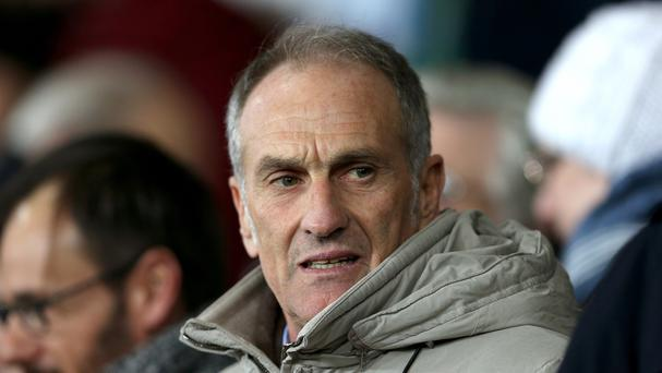 New Swansea head coach Francesco Guidolin watched from the stand as they beat Watford 1-0 at the Liberty Stadium.