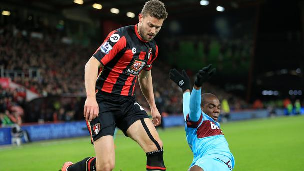 Simon Francis, left, has signed a new deal with Bournemouth
