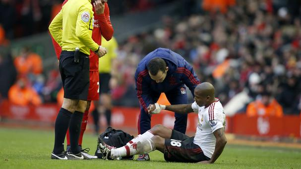 Ashley Young suffered a groin injury in the match against Liverpool
