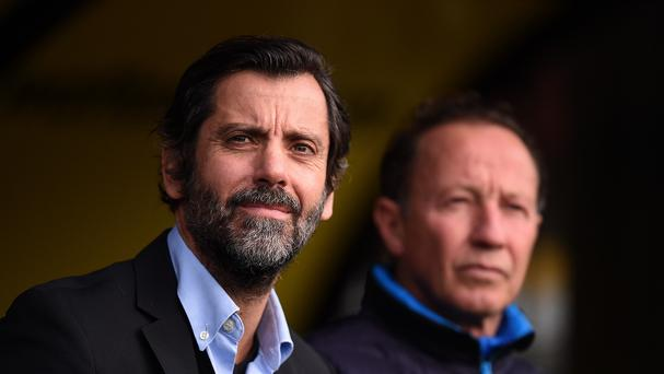 Quique Sanchez Flores, left, is hopeful of signing one more player before the transfer window closes
