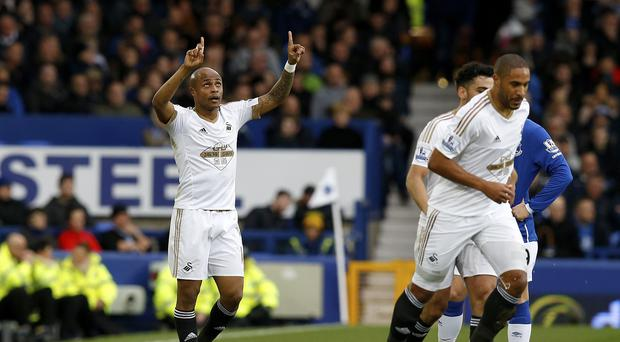 Andre Ayew's first-half goal gave Francesco Guidolin a win in his opening game as Swansea City boss