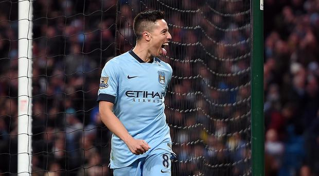 Manchester City's Samir Nasri is hoping to return to action in March