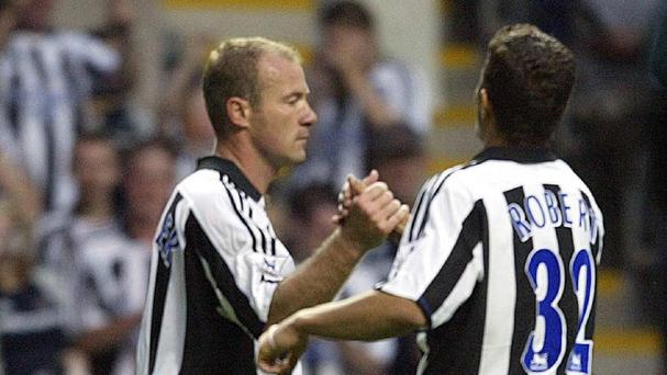 Alan Shearer, left, and Laurent Robert were among the more successful of Newcastle's big-money signings