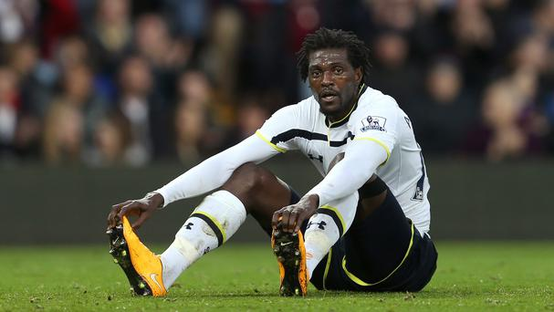 Emmanuel Adebayor has joined Crystal Palace on a short-term contract until the end of the season