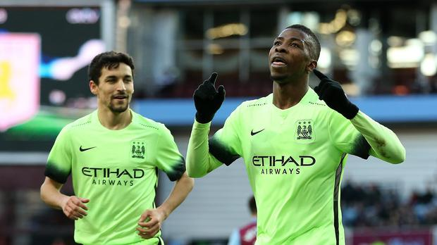 b09b1a60832 Kelechi Iheanacho has eight goals this season after his hat-trick in Manchester  City s 4