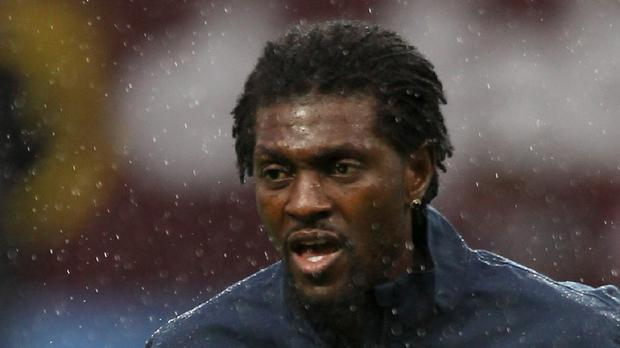 Emmanuel Adebayor was not ready for a Crystal Palace debut against Stoke