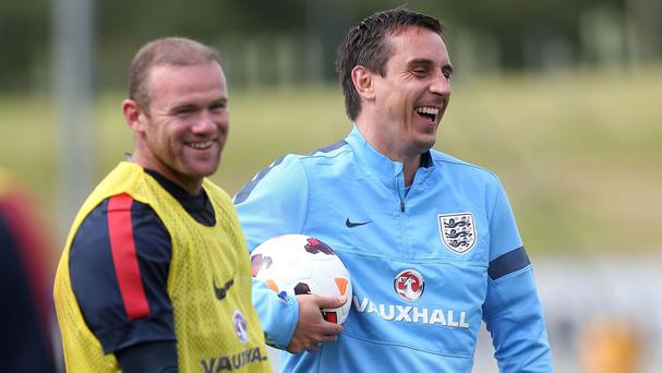 Gary Neville, right, will be part of the England set-up at Euro 2016