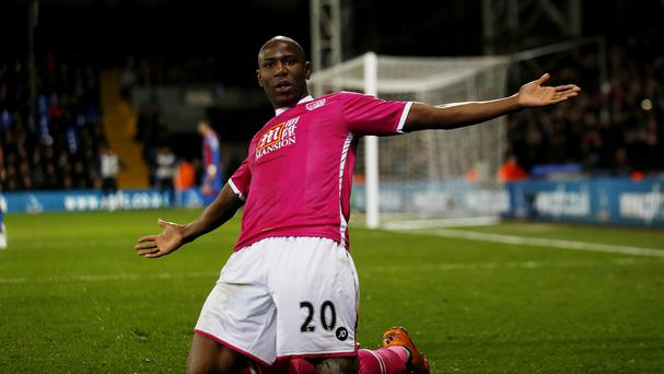 Marc Pugh and Benik Afobe, pictured, scored either side of half-time for Bournemouth